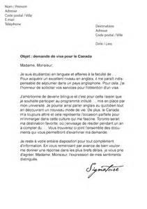 Exemple De Lettre De Demande De Visa Lettre De Demande De Visa Pour Le Canada Mod 232 Le De Lettre