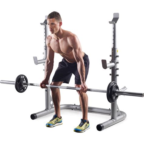 golds gym bench and squat rack golds gym workout squat rack bench power weight stand