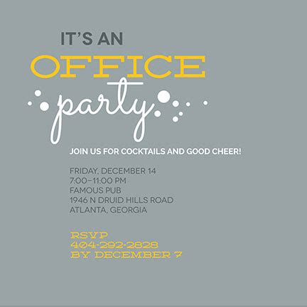 Office Party Invitations Oubly Com Office Invite Template
