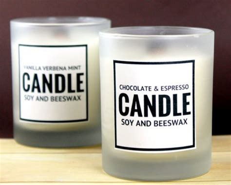 Beeswax Candle Block Choose Scent scented diy soy and beeswax candles with printable labels