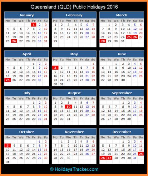 printable calendar 2016 qld school holidays queensland australia public holidays 2016 holidays tracker