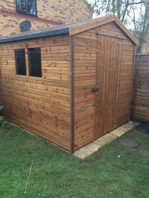 8x7 apex tanalised shed easy shed