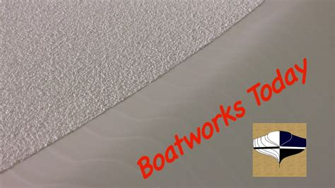 boat paint application applying awlgrip nonskid using soft sand rubber youtube