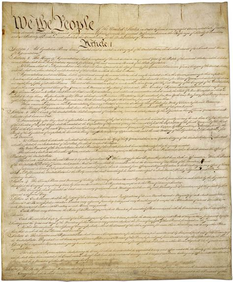 Full Printable Us Constitution | the constitution of the united states complete full text