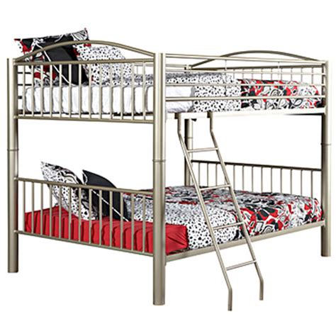 full over full metal bunk beds powell spencer metal full over full bunk bed boscov s
