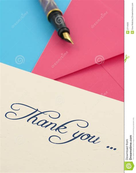 thank you letter after envelope thank you note and envelopes stock photo image 2714920