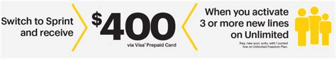 400 Visa Gift Card - sprint get 25k aadvantage miles 174 400 90 per month unlimited on up to 5 lines