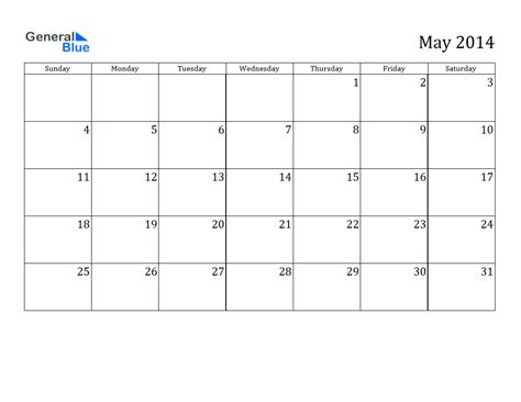 2014 calendar template may 2014 calendar printable 3 printable calendar 2014