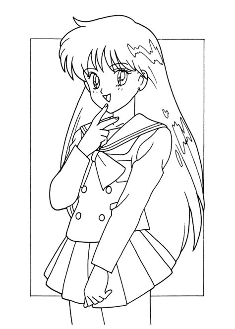 pictures girl coloring schoolgirl pics for gt anime school girl coloring page