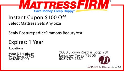 Mattress Coupon Code by Mattress Firm 171 Drjhubert