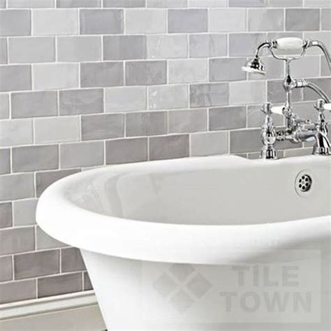 bathroom tiles brick effect chic grey mix bathroom wall tile