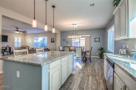 traditional kitchen with high ceiling raised panel in gilbert az zillow digs