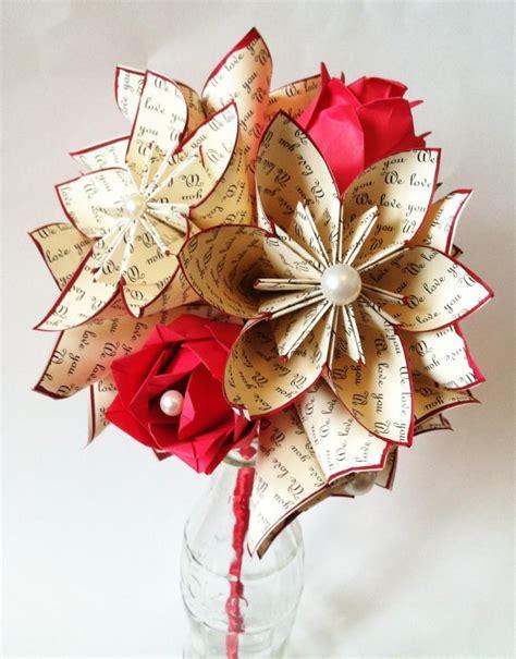 Wedding Anniversary Gift Order by Paper Flowers Roses Dozen Anniversary Gift