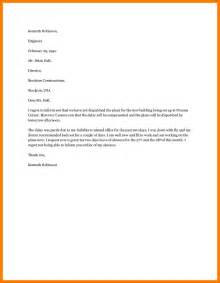 Request Letter Regarding 5 Request Letter For Vacation Leave Park Attendant