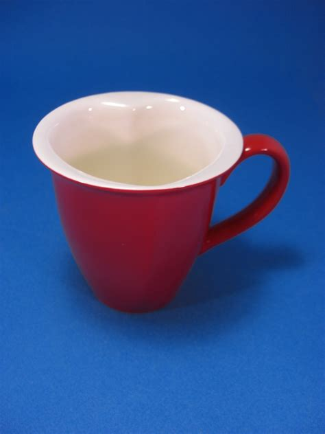 heart shaped mug hallmark red white heart shaped coffee mug modern 1970 now