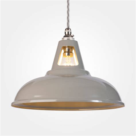 Industrial Lighting Pendants Coolicon Industrial Pendant Light Powder Coated By Artifact Lighting Notonthehighstreet