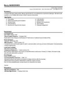 shift leader employee coordinator resume exle