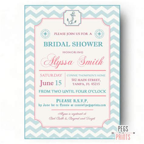 printable nautical bridal shower invitations shop nautical themed invitations on wanelo