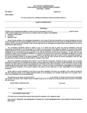 Cibc Credit Letter application for letter of credit form letter of credit