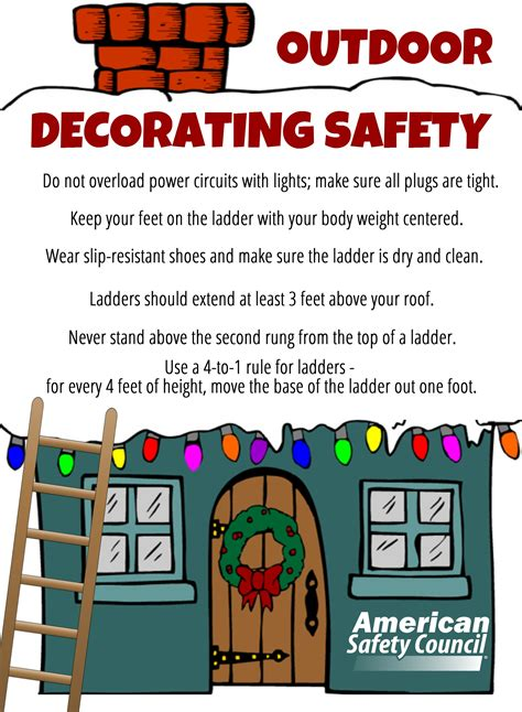 outdoor holiday decorating safety american safety