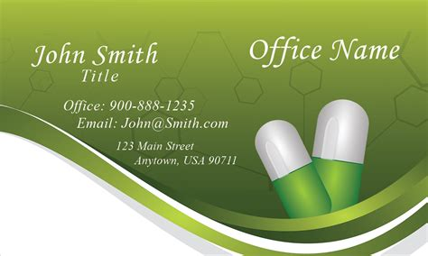 free pharmacy business card template and pharmacy business card design 301181