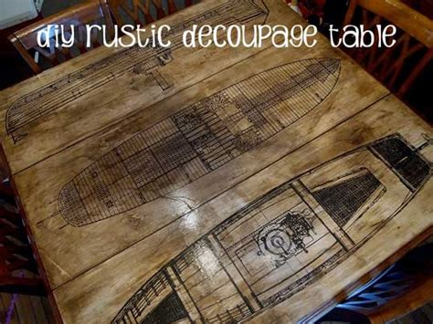 How To Decoupage On Cardboard - how to aged paper decoupage diy table refinishing project