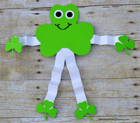 st patricks day kid crafts st s day shamrock allfreekidscrafts