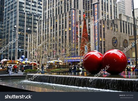 new york december 26 christmas decorations stock photo