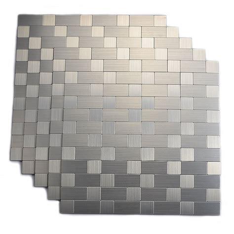kitchen backsplash stick on tiles top mosaic peel and stick tiles backsplash on wall for kitchen 714119699955 ebay