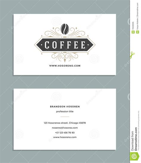coffee shop business design business card design and retro style template coffee shop