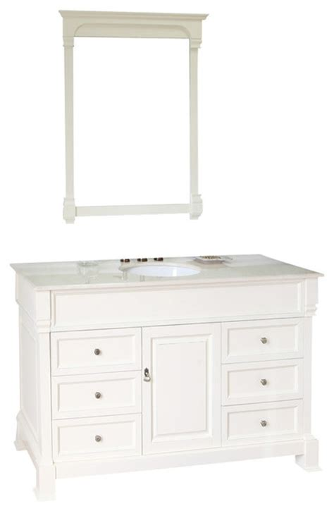 60 inch single sink vanity wood white modern