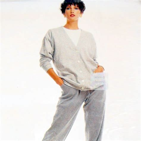 comfort wear comfort wear knits cardigan pants 1980s pattern easy sew