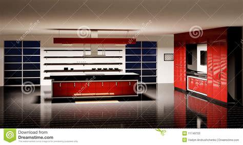 modern kitchen interior 3d rendering modern kitchen interior 3d render stock photos image