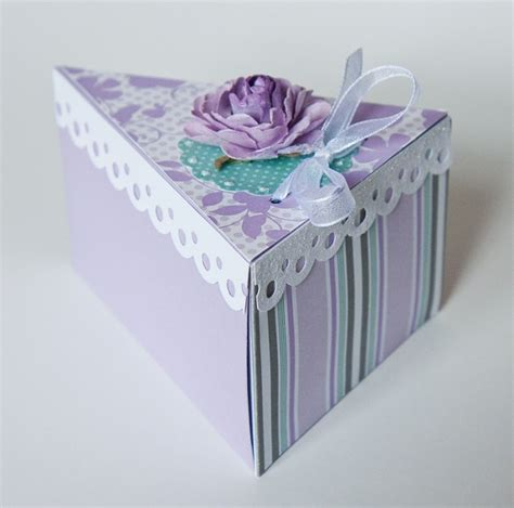 Handmade Boxes Templates - cake box single quot slice quot made with the cake box template