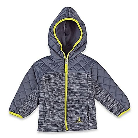 rugged reversible jacket rugged reversible fleece midweight jacket in grey buybuy baby