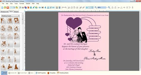 free invitation design software for mac wedding invitation software rectangle potrait pink bridal