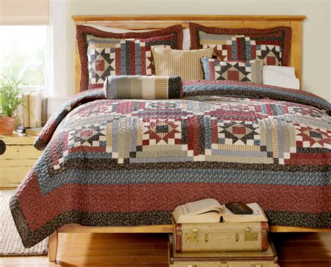 Patchwork Bed Quilts - country patchwork quilt bedding ebay