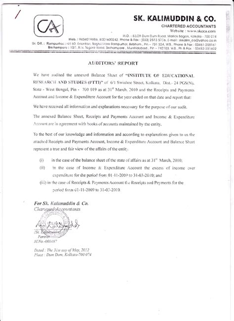 appointment letter to auditor after agm institute of educational research and studies primary