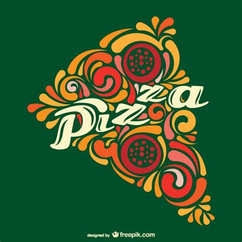 Abstract pizza slice vector Vector   Free Download