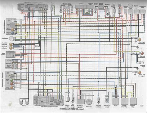 yamaha virago 750 wiring diagram yamaha v 650 classic