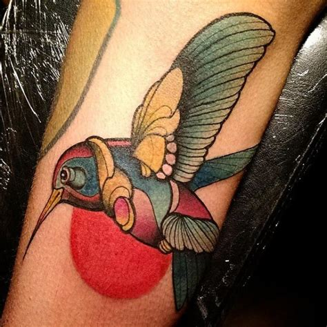 new school hummingbird tattoo arm hummingbird tattoo by nik the rookie