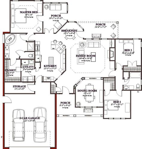 Floor Plan 3000 Sq Ft House by 1897 Square Feet 4 Bedrooms 3 Batrooms 3 Parking Space