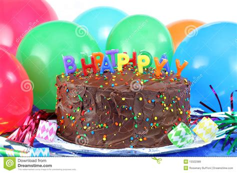 Balon Happy Birthday Tart happy birthday chocolate cake and balloons royalty free