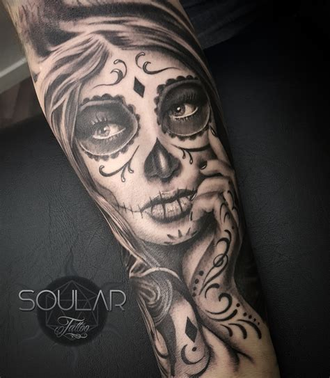 day of the dead girl tattoos day of the dead by matt parkin soular