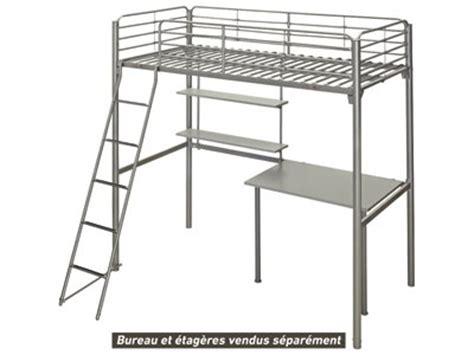 etagere 2 meter lit mezzanine 90x190 cm new line 4 coloris gris