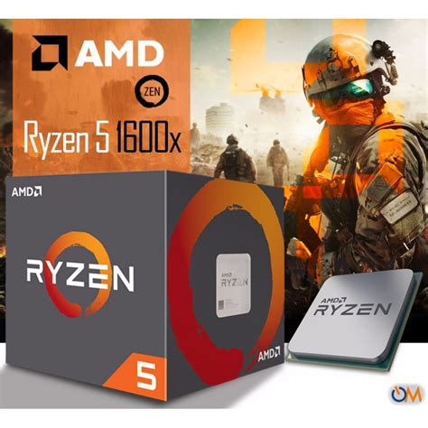 Amd Ryzen 5 1600x 3 6ghz cpu amd ryzen 5 1600x 3 6ghz turbo 4 0ghz 6 n 218 cleos 12