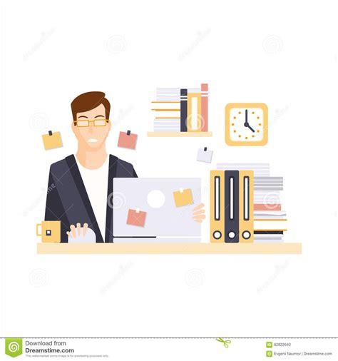 employe de bureau employ 233 de bureau malheureux d homme dans le compartiment
