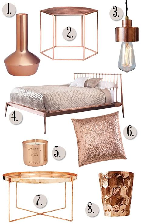 gold bedroom accessories copper in the home will copper replace our love of gold