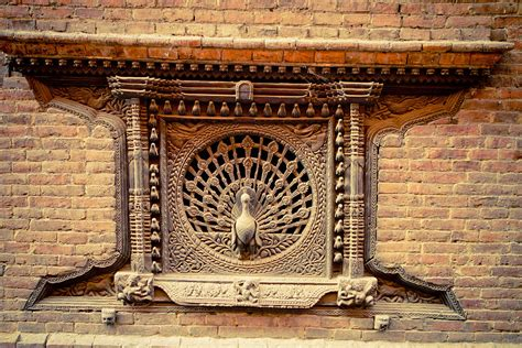 Home Decor Nepal by Ancient Peacock Window Bhaktapur Nepal Photograph By