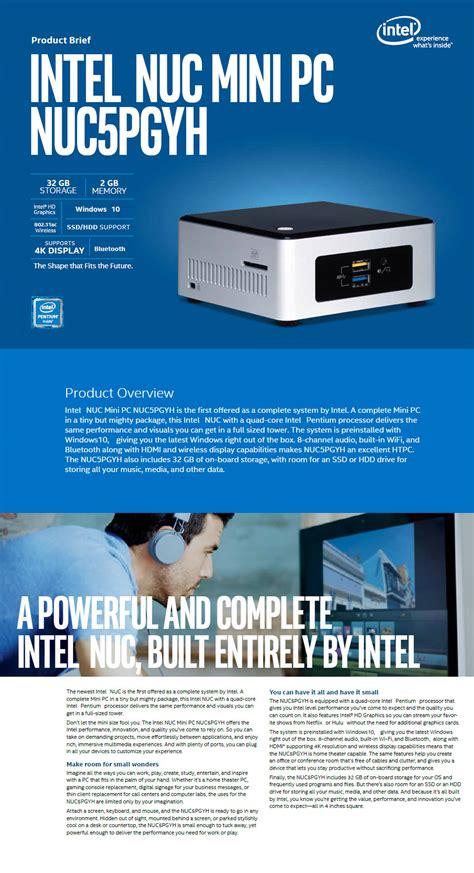 Diskon Mini Pc Intel Nuc Nuc5pgyh Quadcore N3700 2 4ghz intel nuc5pgyh pentium nuc windows 10 mini pc